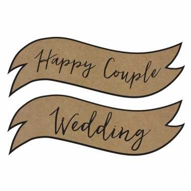 Bruiloft versiering happy couple