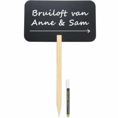 Bruiloft wegwijzer krijtbord 73 cm inclusief stift