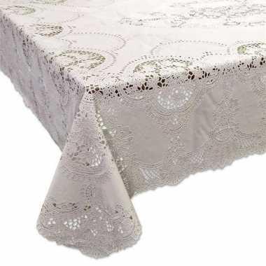 Buiten tafelkleed/tafellaken ivoor wit 137 x 180 cm