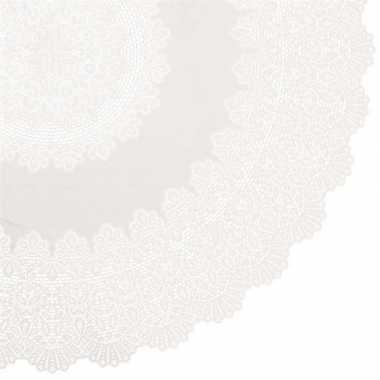 Buiten tafelkleed/tafellaken ivoor wit amira 152 cm rond