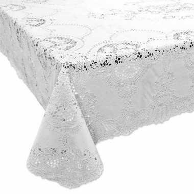 Buiten tafelkleed/tafellaken wit 137 x 180 cm