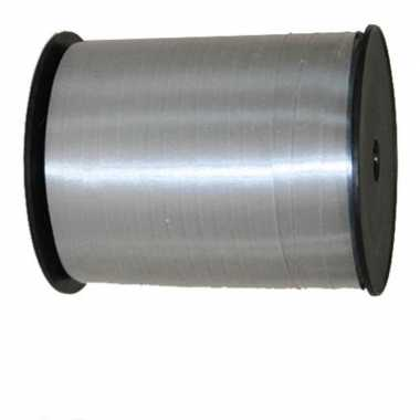 Cadeaulint/sierlint in de kleur zilver 5 mm x 500 meter
