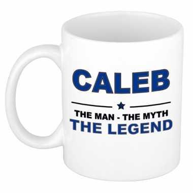 Caleb the man, the myth the legend cadeau koffie mok / thee beker 300 ml