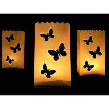 Candle bag set vlinder print 26 cm