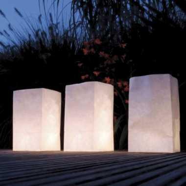 Candle bags set blanco 26 cm
