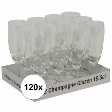 Champagne glazen 120 stuks