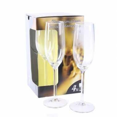 Champagne glazen 12x stuks