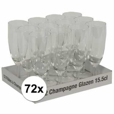 Champagne glazen 72 stuks