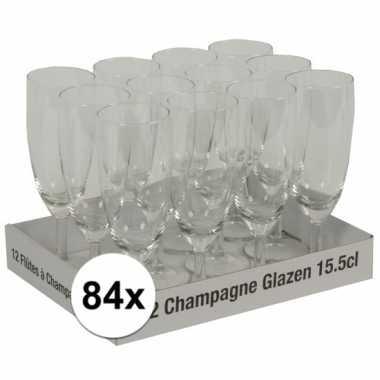 Champagne glazen 84 stuks