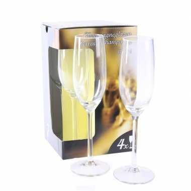 Champagne glazen 8x stuks
