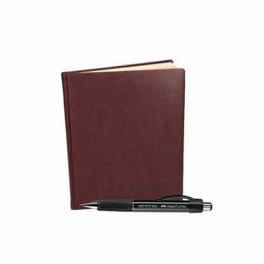 Condoleance gastenboek met faber castell balpen