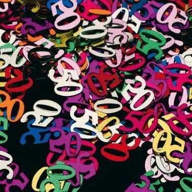 Confetti 50 jaar thema versiering zakje van 45 gram