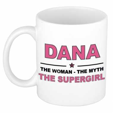 Dana the woman, the myth the supergirl cadeau koffie mok / thee beker 300 ml