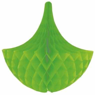 Decoratie kroonluchter groen 35 cm