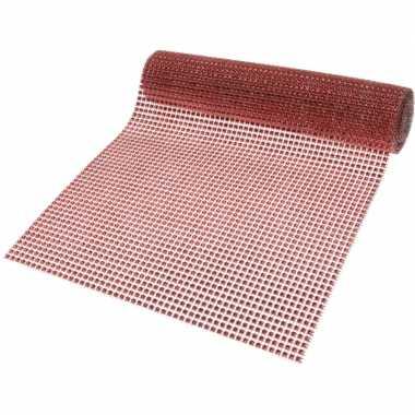 Decostof/tafelloper rood 25 x 200 cm