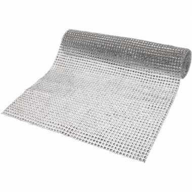 Decostof/tafelloper zilver 25 x 200 cm