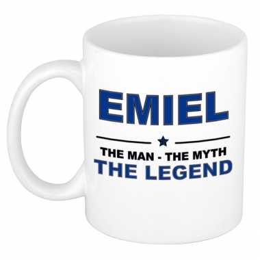 Emiel the man, the myth the legend cadeau koffie mok / thee beker 300 ml