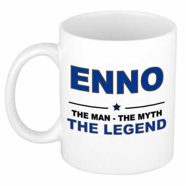 Enno the man, the myth the legend cadeau koffie mok / thee beker 300 ml