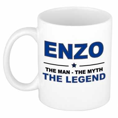 Enzo the man, the myth the legend cadeau koffie mok / thee beker 300 ml