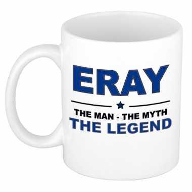 Eray the man, the myth the legend cadeau koffie mok / thee beker 300 ml