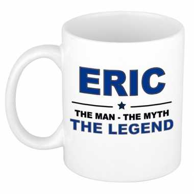 Eric the man, the myth the legend cadeau koffie mok / thee beker 300 ml