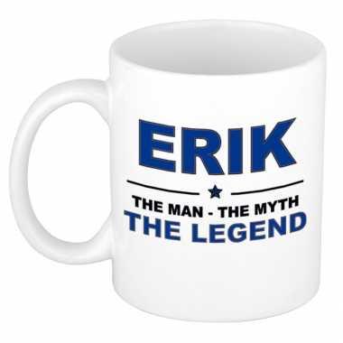 Erik the man, the myth the legend cadeau koffie mok / thee beker 300 ml