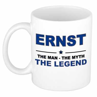 Ernst the man, the myth the legend cadeau koffie mok / thee beker 300 ml