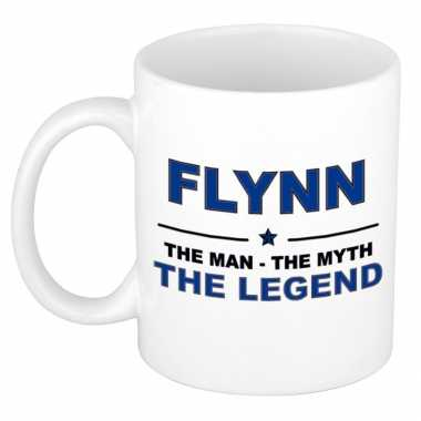 Flynn the man, the myth the legend cadeau koffie mok / thee beker 300 ml