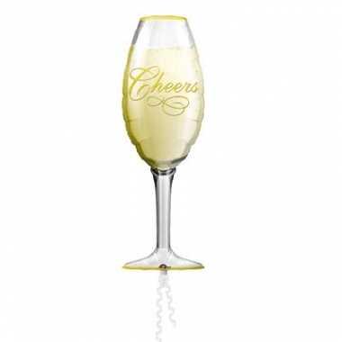 Folie ballon champagne glas
