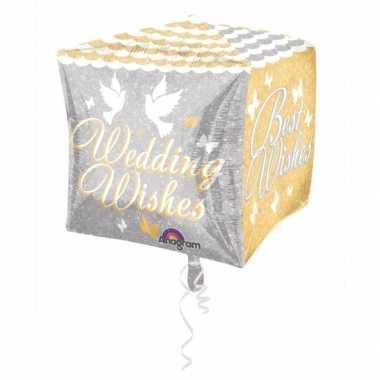 Folie ballon wedding wishes 38 cm