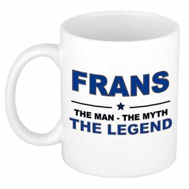 Frans the man, the myth the legend cadeau koffie mok / thee beker 300 ml