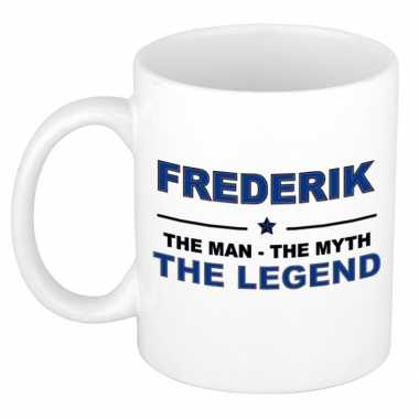 Frederik the man, the myth the legend cadeau koffie mok / thee beker 300 ml
