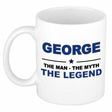 George the man, the myth the legend cadeau koffie mok / thee beker 300 ml