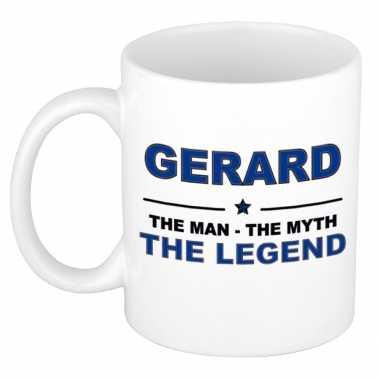 Gerard the man, the myth the legend cadeau koffie mok / thee beker 300 ml