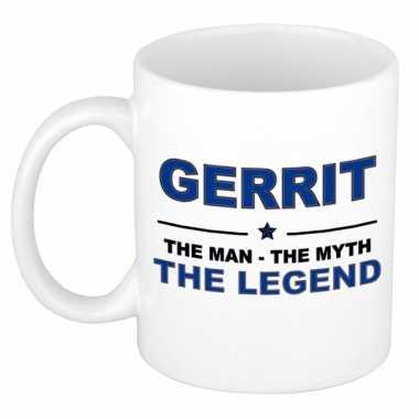 Gerrit the man, the myth the legend cadeau koffie mok / thee beker 300 ml