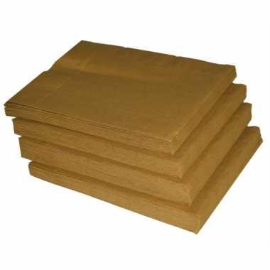 Gouden servetten 50 stuks