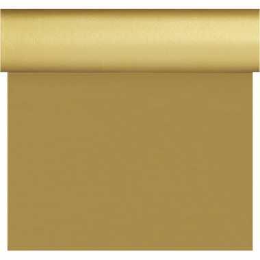 Gouden tafelloper/placemats 40 x 480 cm