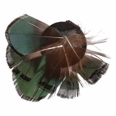 Groene veertjes met haarklem