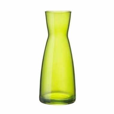Groene zandloper vaas glas 20 cm