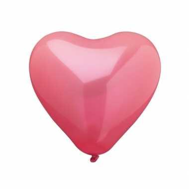 Hartjes ballonnen 10 stuks