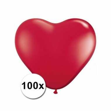 Hartjes ballonnen rood 15 cm 100 stuks