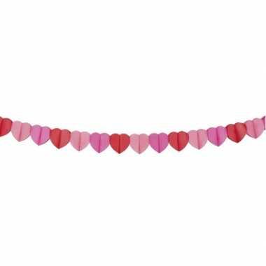 Hartjes slinger rood en roze 4 meter