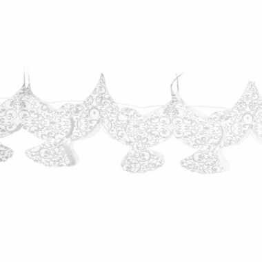 Huwelijk bruiloft deco slinger met duifjes 6 meter