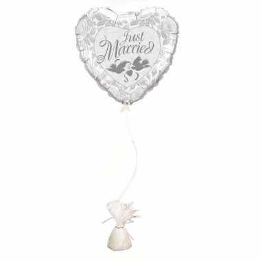 Just married ballon met ballon gewicht