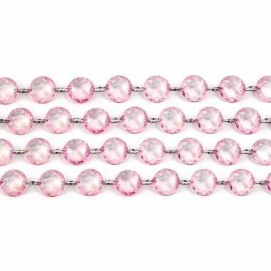 Kristal slinger lichtroze 1 meter