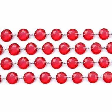 Kristal slinger rood 1 meter