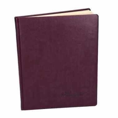 Luxe aubergine receptieboek 27 cm