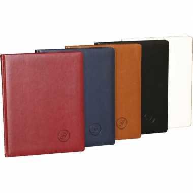 Luxe blauw receptieboek 27 cm