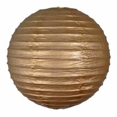 Luxe bol lampion goud 25 cm