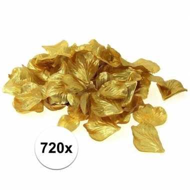 Luxe goudgele rozenblaadjes 720 stuks
